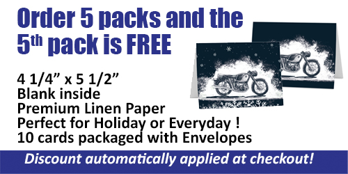 Note Cards compatible with Classic Holiday BMW Airhead Accessories 10 pack