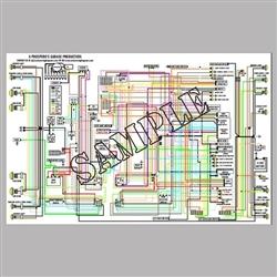 BMW Wiring Diagram, Full Color, LaminatedEuro MotoElectrics
